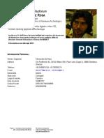 CV Dott Alessandro de Rosa