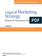Digital Marketing Strategy Summary Report
