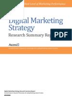 Digital Marketing Strategy Summary Report