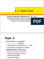 CRE3 Rate Laws Single Rxns Reversible Rxns