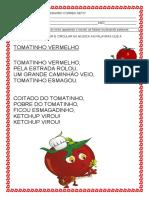 Sequencia Para Alfabetizacao Tomatinho Vermelho