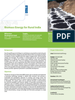 Biomass Energy for Rural India Factsheet Project