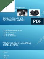 Estado Actual de Las Explotaciones Mineras
