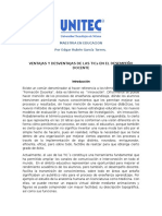 Ventajas y Desventajas de Las TICs en El Desempeño Docente