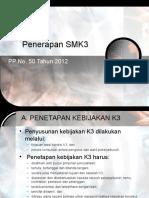 2d.pedoman Penerapan SMK3 PP 50 Tahun 2012