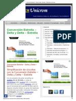 Conversión Estrella - Delta y Delta - Estrella - Electrónica Unicrom