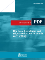 INTRODUCTION TO THE COURSE HIV basic knowledge and stigma reduction in health care settings