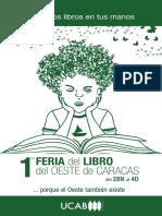 Celebra la lectura con la 1era #FeriaDelLibroUCAB del Oeste de Caracas