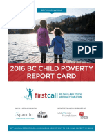2016 BC Child Poverty Report Card