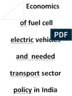 Economics of fuel cell electric vehicles and needed transport sector policy in India