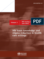 HIV care and psychosocial Module 4 support