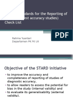 STARD (STAndards for the Reporting of Diagnostic