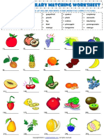 food fruit vocabulary matching exercise worksheet.pdf