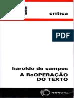 Haroldo de Campos - A ReOperação DO TEXTO - Cap..5 Diábolos No Texto (Saussure e Os Anagramas)