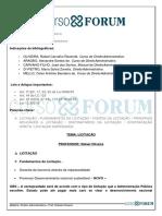 Direito Administrativo- Rafael Oliveira - Aula 14 – Licitação