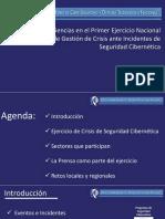 Ciberseguridad Experiencias 1er Ejercicio Nacional Gestion de Crisis MSOCT2013
