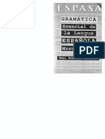 Gram. Esencial de La Lengua Españ. de Manuel Seco