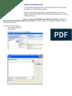 ¿Cómo Pasar Los Nombres de Archivos de una carpeta  a Una Hoja de Excel?
