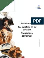 Solucionario Clase 6 Las Palabras en Su Entorno Vocabulario Contextual 2016 CES