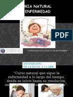 Historia Natural de La Enfermedad, Niveles de Prevencion y Vigilancia Epidemiologica Lunes 5 de Septirmbre