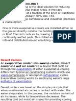 Hvac Ppt6 Evaporative Cooling