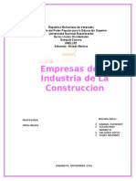 Empresas de La Industria de La Contruccion