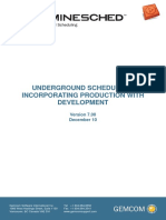 08 Underground Scheduling Production With Development V70
