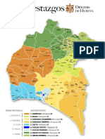 Mapa Diocesis de Huelva (España)