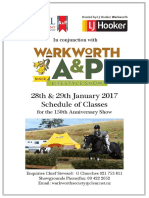 Warkworth a & P Equestrian Schedule 2017