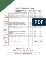 Ejemplo de Ecuación de La Marca (1)