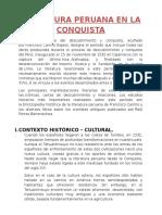 Literatura Peruana en La Conquista