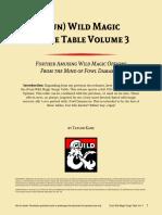 (Fun) Wild Magic Surge Table Vol 3 (10216644)