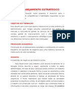 TDE - Planejamento Estratégico
