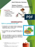 Exposicion Quimica Odorizantes y Saboreizantes