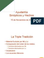 PPT - Ayudantia de Sinopticos y Hechos