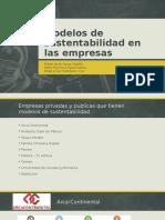 Modelos de Sustentabilidad en Las Empresas