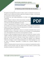 Programa Investigación Puentes de Madera