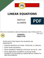 MATH10 Lesson 9
