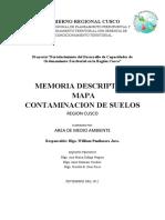 Memoria Descriptiva Contaminacion Suelos