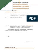 Informe de Voladura.