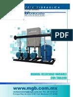 Manual de Instalación y Operación Para Equipos de Vel. Var.