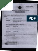 DBM Acknowledgement Receipt for OPAPP Annual Procurement Plan 2017