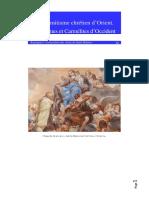 De l'Eremitisme Chretien d'Orient, Aux Carmes Et Carmelites d'Occident