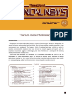 Titanium Oxide Photocatalyst
