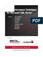 High Performance Techniques for Microsoft SQL Server