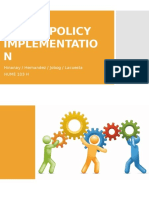 Social Policy Implementation