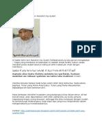 Pesan Al-habib Salim Ibni Abdulloh Asy-Syatiri