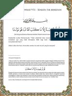 Amalan Ayat 51 Surah At_Tawbah