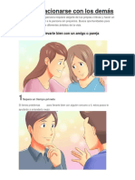 Cómo Relacionarse Con Los Demás