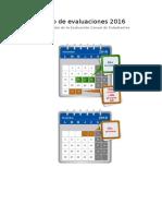 Calendario de Evaluaciones 2016- ECE